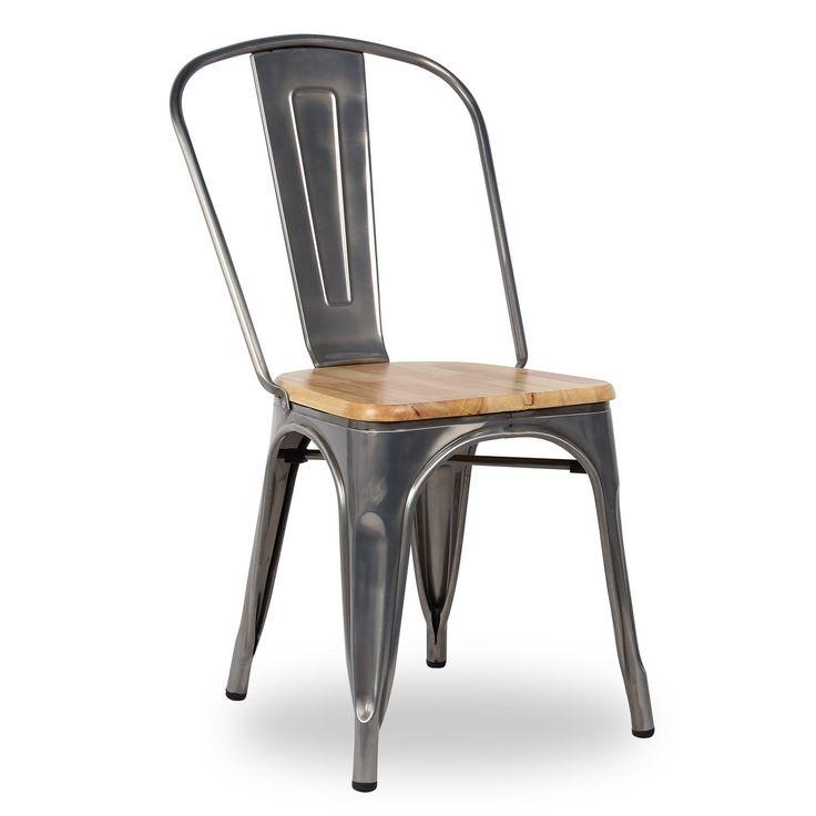 Silla TEREK -Vintage Wood- (Sillas metálicas) - Tolix A Sillas de diseño, mesas de diseño, muebles de diseño, Modern Classics, Contemporary Designs...