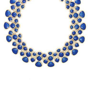 Love this Goldtone & Blue Layered Statement Necklace on #zulily! #zulilyfinds