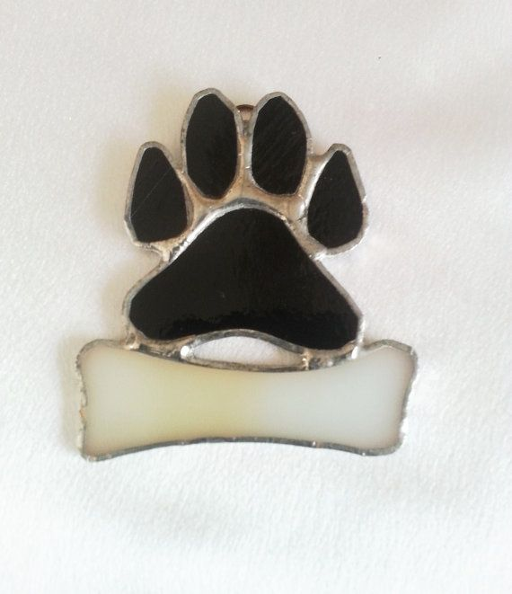 These adorable little puppy paws are approx. 3 1/4 high by 3 wide. Your puppies name can be hand written on the dog bone, Up to 6 letters