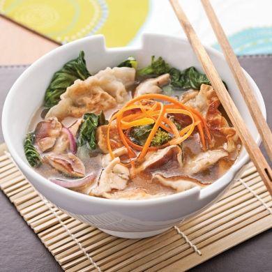 Soupe-repas aux raviolis chinois - Recettes - Cuisine et nutrition - Pratico Pratique
