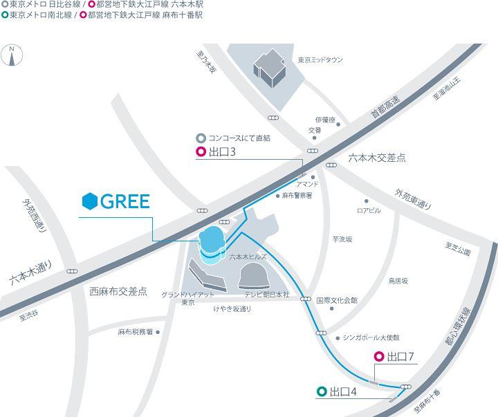グリー株式会社 会社案内図