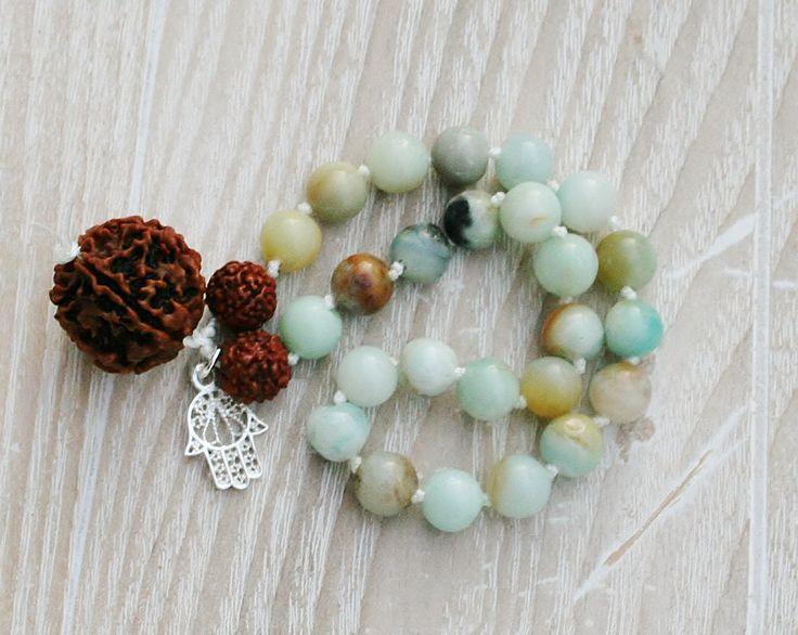 Een persoonlijke favoriet uit mijn Etsy shop https://www.etsy.com/nl/listing/494389857/amazonite-mala-271-beads-rudraksh-guru