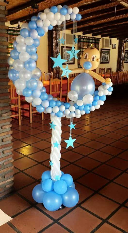 Baby balloon moon baby shower