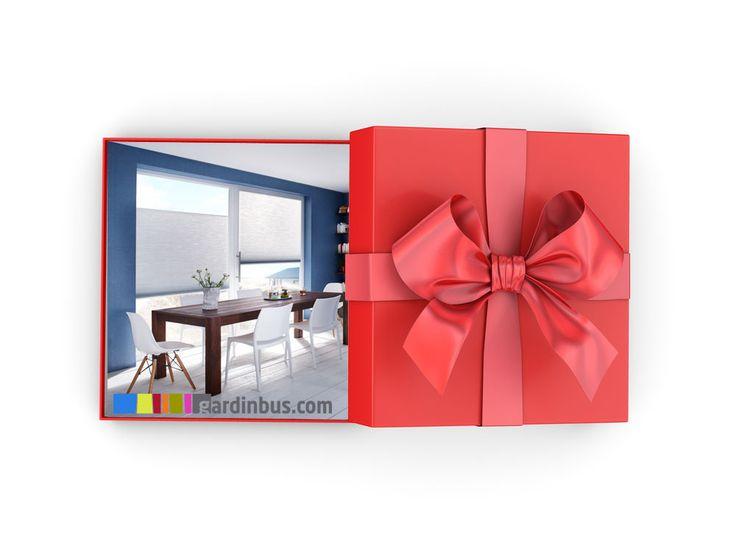Glæd én du holder af med et gavekort til Gardinbussen. Gavekortet giver adgang til køb af nye gardiner, solafskærmning og lækre markiser.