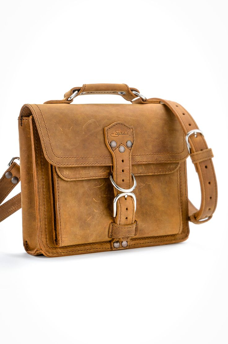 The Saddleback Leather Tablet Bag in Tobacco | 100 Year Warranty | $198.00