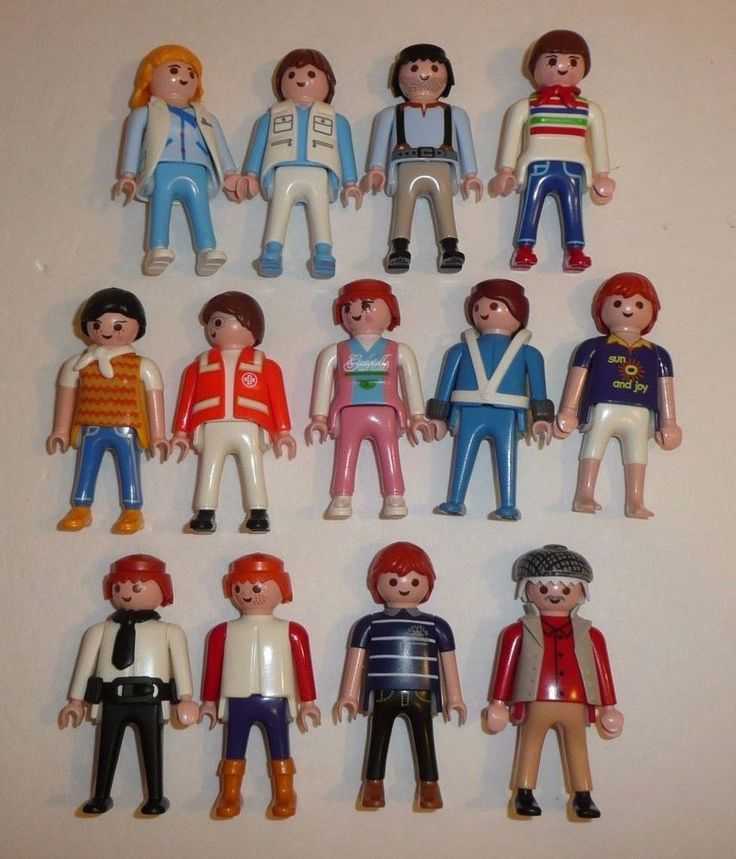 Playmobil Parts + Pieces Lot - 13 People Figures - Workers Male City Town Folk #PLAYMOBIL