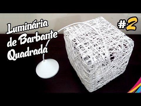 Luminaria de Barbante Quadrada - Como Fazer - DIY #2 - YouTube