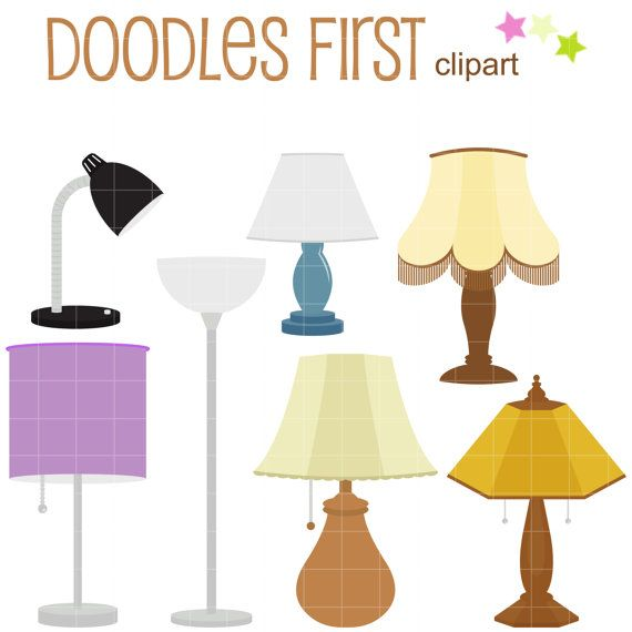This Clipart Set Includes The Following Elements 7 X Lamps Each Clipart Illustration Is Included Separately As A High Reso Clip Art Cupcake Toppers Paper Lamp