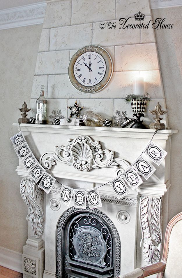 30 best New Year\'s Eve Fireplace Decoration images on Pinterest ...