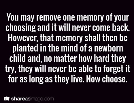 This might sound ridiculous but I have a really bad memory!?