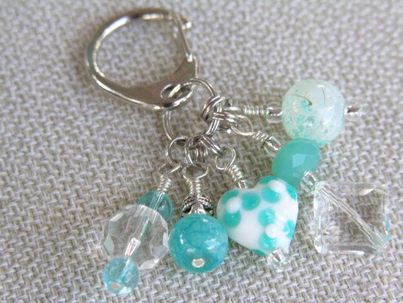 Beaded Keychain / Purse Bling / Purse Charm by TheRusticOwlDesigns, $8.00