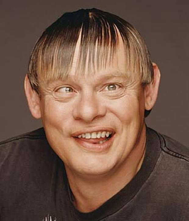 Male Bad Hair Day: Comedy On The Fringe: Martin Clunes Just Isn't Ready For