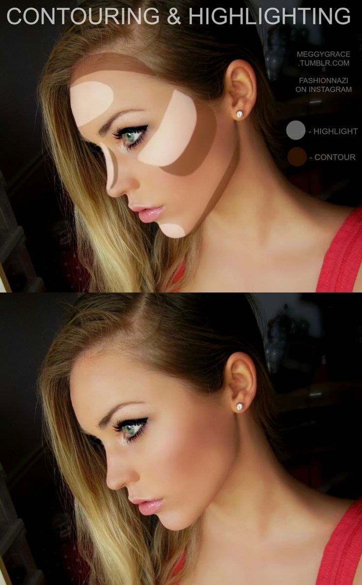 Contour & Highlight by @Fashionnazi in Motives Colour Perfection Quads(Light)! #Contour #Highlight #Face