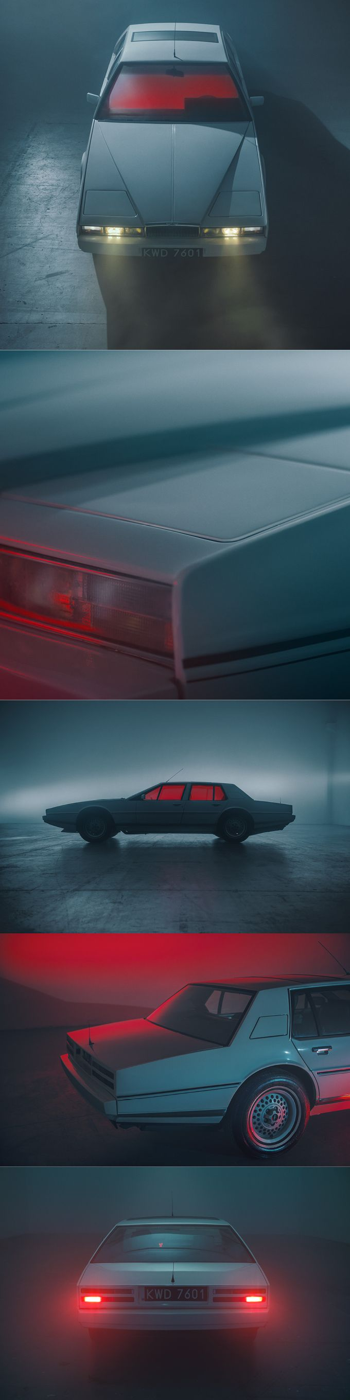 1976 Aston Martin Lagonda / 645 produced / red white / UK / William Towns / Behance / 17-335