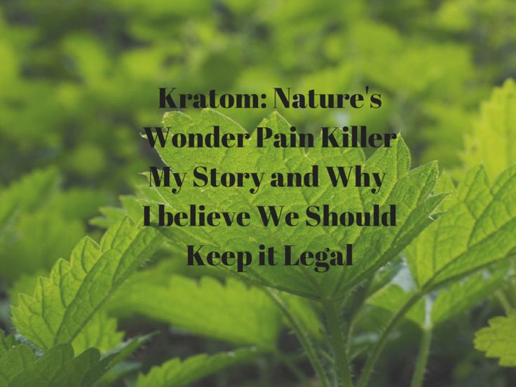 Kratom: Nature's Wonder Drug for Pain. Why I Believe We Should Keep It Legal — The Dynamic Diva Duo