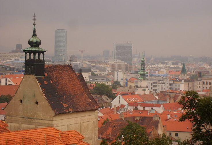 Lidt udsigt over Bratislava