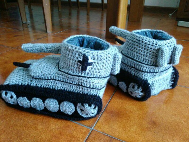 Pantofole Panzer - uncinetto