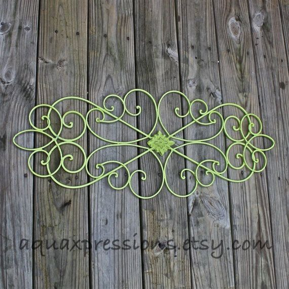 Lime Green Metal Wall Fixture Distressed Patio By