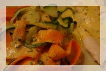 Une cuisson 3 étages avec thermomix.... (cette photo est issue du blog dietetiquement votre, ICI, car j'ai oublié de prendre mon plat en photo). POUR 3 PERSONNES info ww = 8 pp / personne 3 carottes 2 petites courgettes 1 petit blanc de poireaux 300 g...