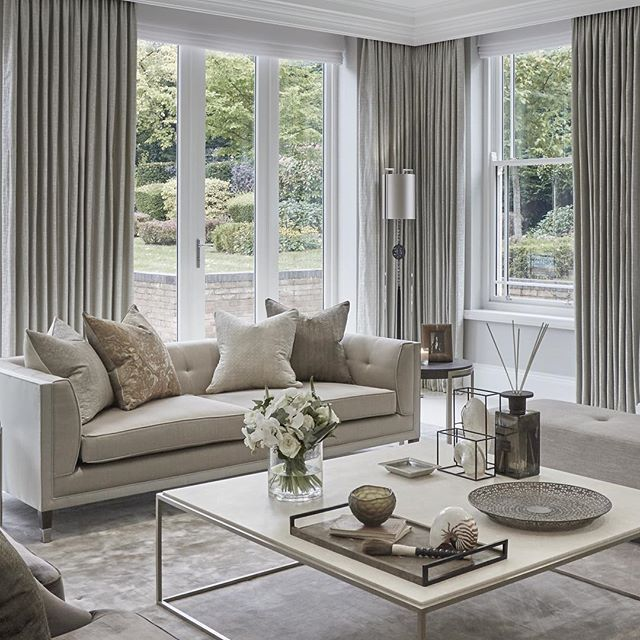 Calming formal sitting room at the Wentworth project