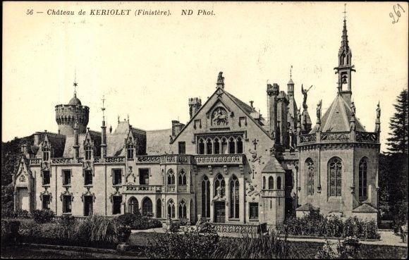 Carte postale Keriolet Concarneau CPA 29, Château, Schloß