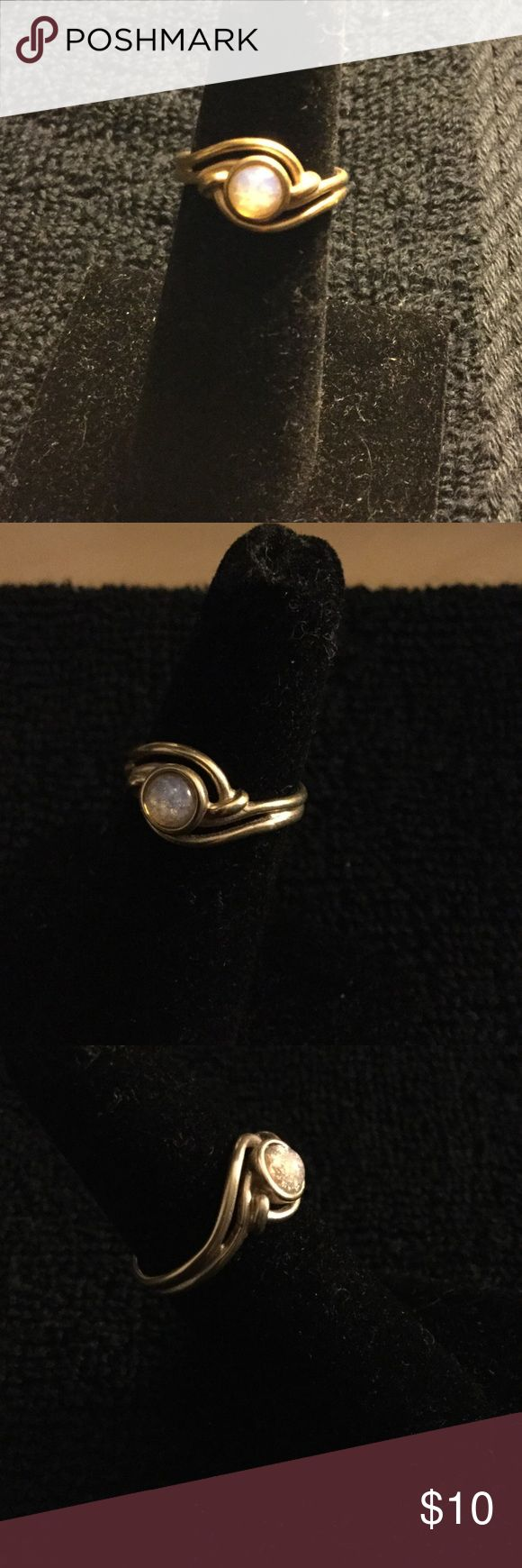 Vintage Avon Ring Vintage Gold tone Avon Ring, Size 6, with stone Avon Jewelry Rings