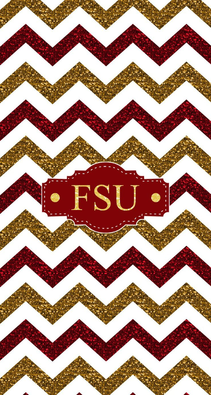 Florida State FSU glitter chevron monogram wallpaper. Made with @MonogramApp