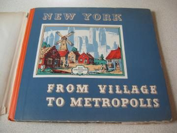 1939 Book New York From Village To Metropolis #FlashAttack #VintageonZibbet #ShopWithLynne - for $7.00