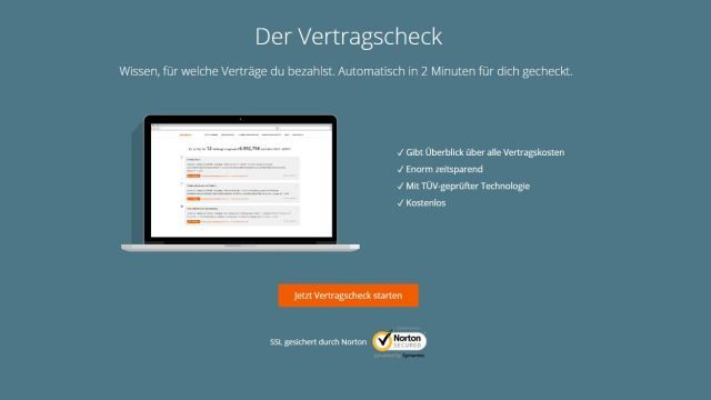 """July 2016 - aboalarm launches its newest """"Vertragscheck"""" feature that helps users to save money by having a closer look into their running contracts."""