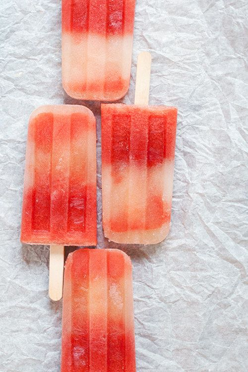 Watermelon-Mint Tequila Ice Pops