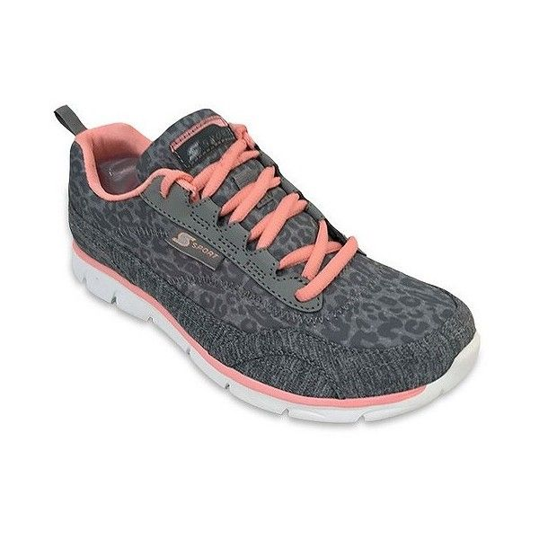 Women's Sport By Skechers Fall 2016 Performance Athletic Shoes ($40) ❤ liked on Polyvore featuring shoes, athletic shoes, grey, lightweight shoes, sports footwear, tenny shoes, skechers footwear and print shoes