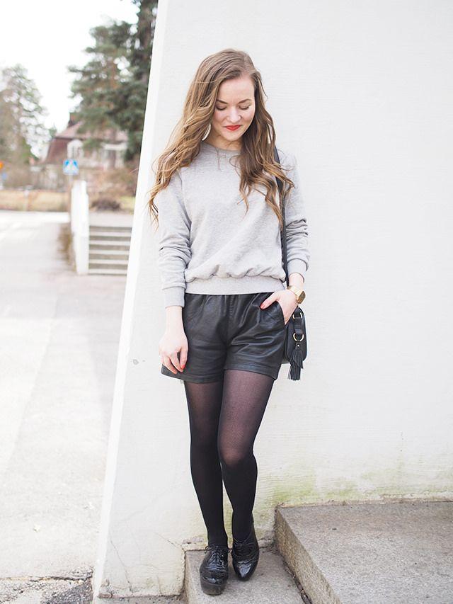 Grey + black leather.