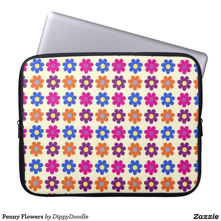 Penny Flowers Laptop Sleeve