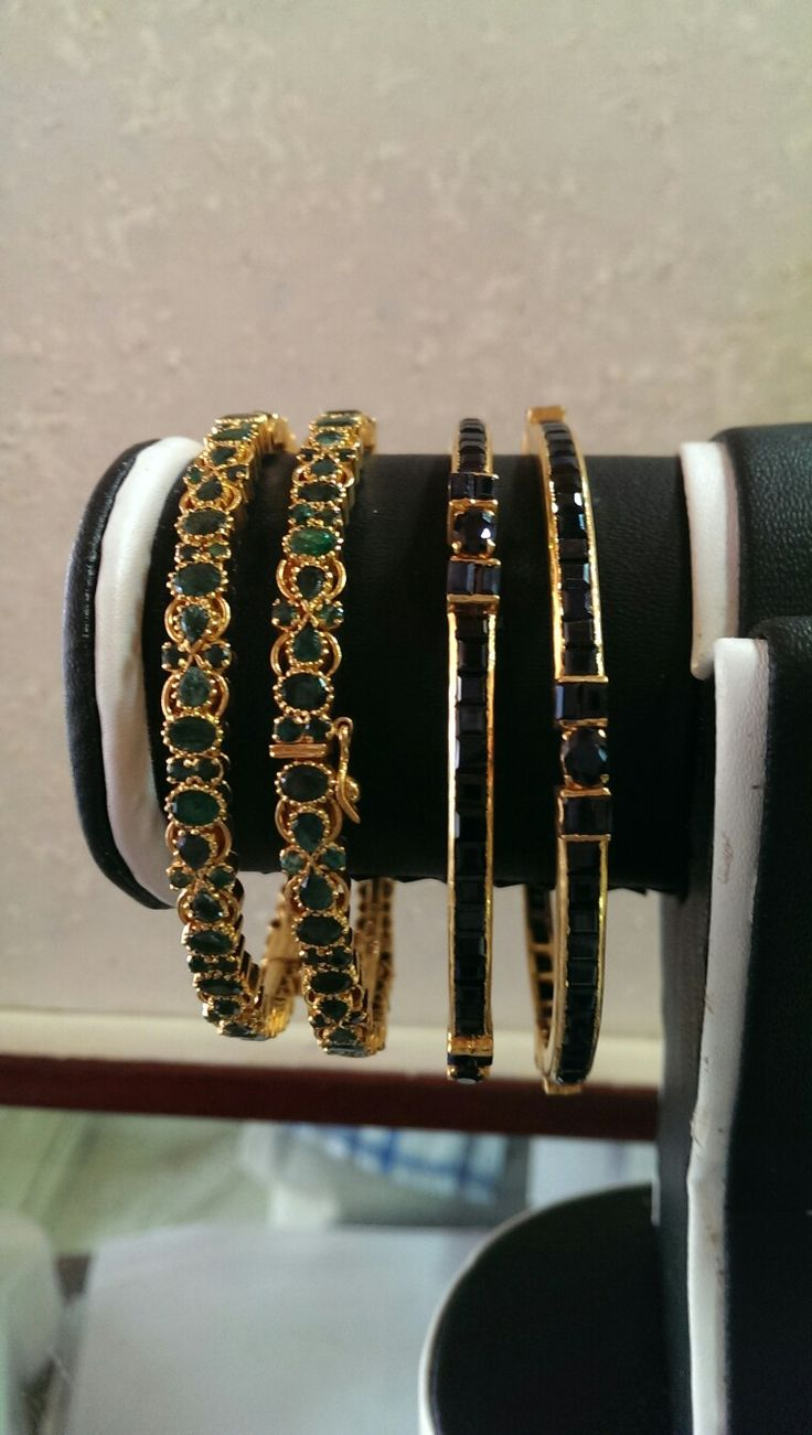 Emerald ..Sapphire Bangles