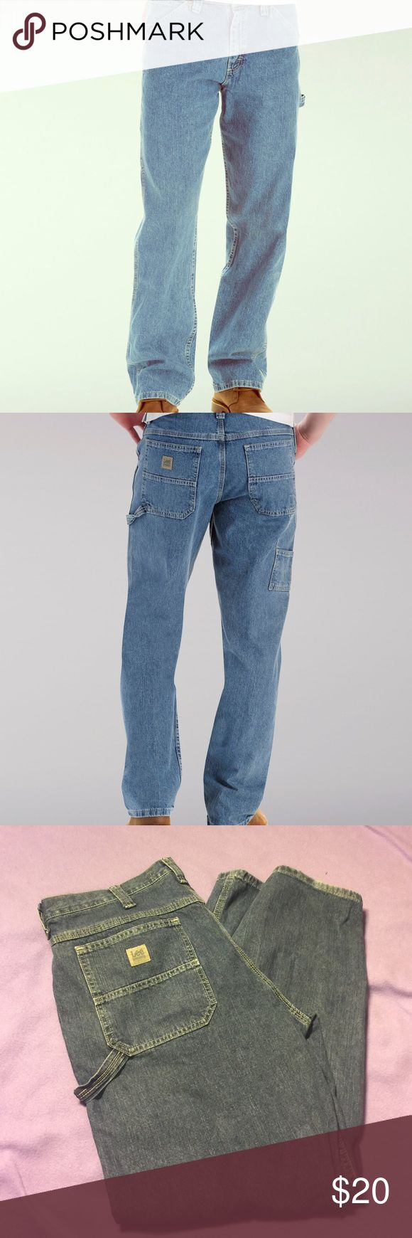 EUC Lee Dungarees Carpenter Men's jeans 38x32 Excellent used condition, minor wear to bottoms and one small spot as pictured on front of jeans, lee dungarees carpenter means jeans in size 38x32. Extremely well made work pants that were only worn twice. Lighter wash. Lee Jeans Relaxed
