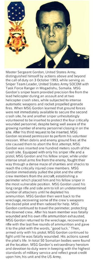 @LCplSwofford: 21 years ago MSG Gary Gordon and SFC Randy Shughart selflessly gave their lives to save a downed pilot in Mogadishu