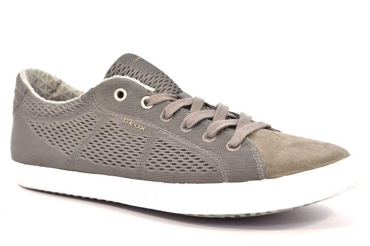 GEOX U72X2B 01422 C1006 SMART Grigio Sneakers Scarpe Uomo Tessuto Estive Pelle