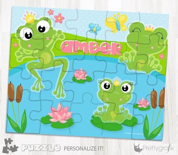 SALES Frog princess personalized puzzle 20 pieces puzzle