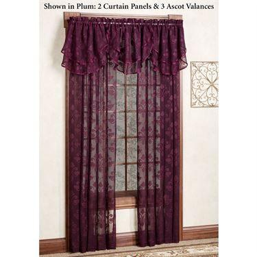 Emily Fleur De Lis Sheer Voile Window Treatment Window
