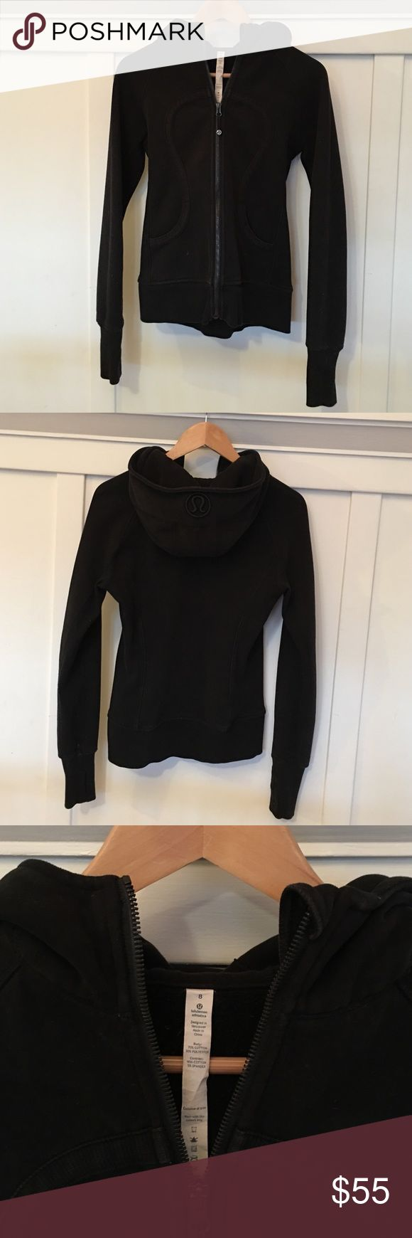 Lululemon Scuba hoodie in black! Lululemon scuba hoodie in black is such a great versatile hoodie that offers so much warmth. In really good condition except for a pen mark of some sort on the bottom right (see pic)...hence the heavy discount. Other than that really great condition! lululemon athletica Tops Sweatshirts & Hoodies