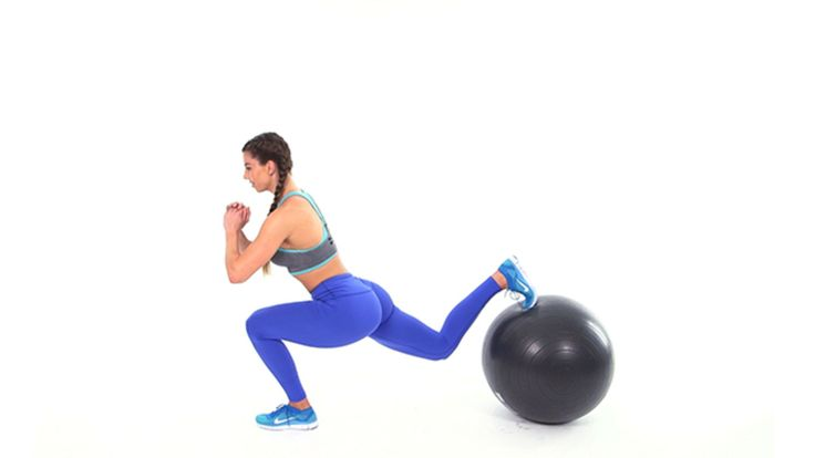 6 Swiss Ball Moves to Make Your Butt Round AF: Fitness trainer Brittany Perille …