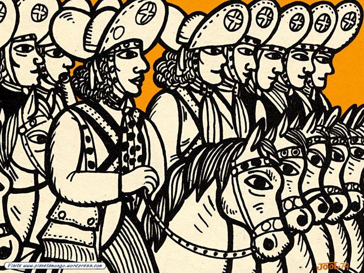 Bando de Lampião, por Jô Oliveira xilogravura, cordel, arte nordestina