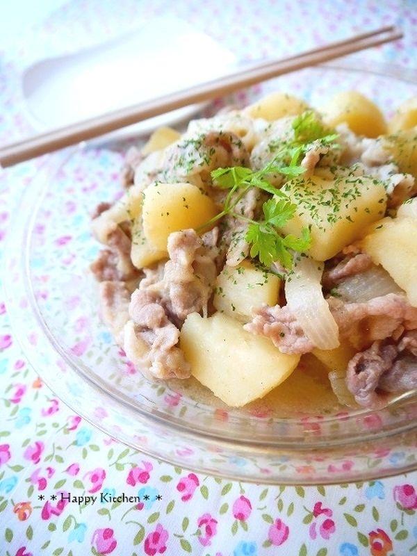 ほくほくじゃがいもと豚こま切れ肉の味噌バター煮 by たっきーママ | レシピサイト「Nadia | ナディア」プロの料理を無料で検索
