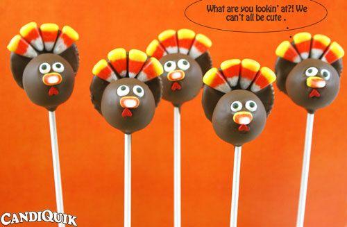 Turkey Cake Pops...miiiight actually be able to pull this off.