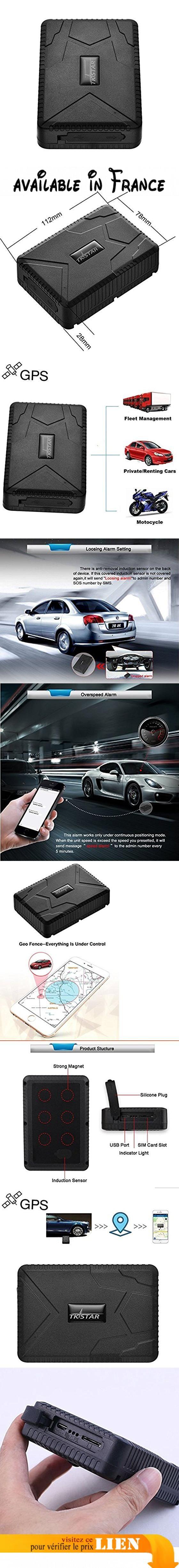 Juneo Tksar GPS Tracker Tk915avec aimant puissant–4mois en veille temps réel tracker Auto–Système de suivi gratuit pour véhicule anti perdu étanche caché Locator. & # x2714; le 2e génération et largement utilisés: suivre l'emplacement des véhicules (location de voiture, camion, moto, camionnette, voiture, etc.). & # x2714; économie d'énergie: un maximum de 120jours de temps de travail avec 10000mAh batterie de fer. Celui-ci est le