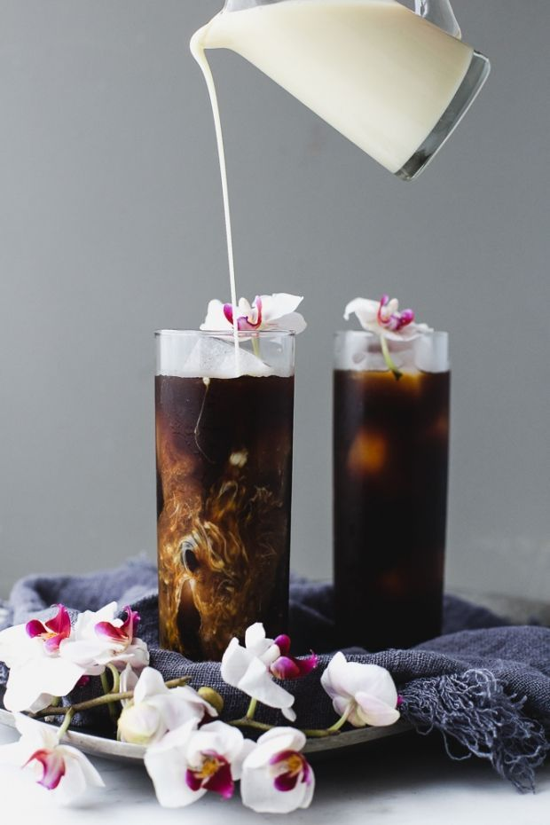 Vietnamese Coffee with Sweet Vanilla Cream // not sure if I'm pinning for the recipe or the beautiful shots.