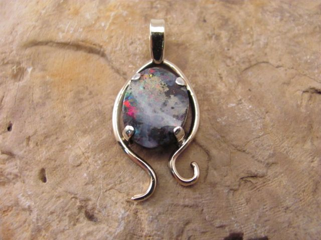 Nice Opal set in 9ct Gold and Sterling silver