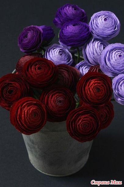 Шикарные бумажные цветы - Клуб рукоделия - Страна Мам