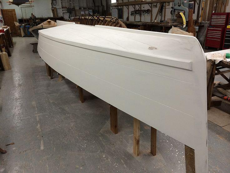 IMG_5338 - Port Hadlock WA - Northwest School of Wooden Boatbuilding - Traditional Small Craft - Carolina Spritsail Skiff - primer sanded | ...