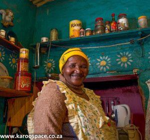Auntie Evelyne Olifant, who runs a restaurant in Nieu-Bethesda.